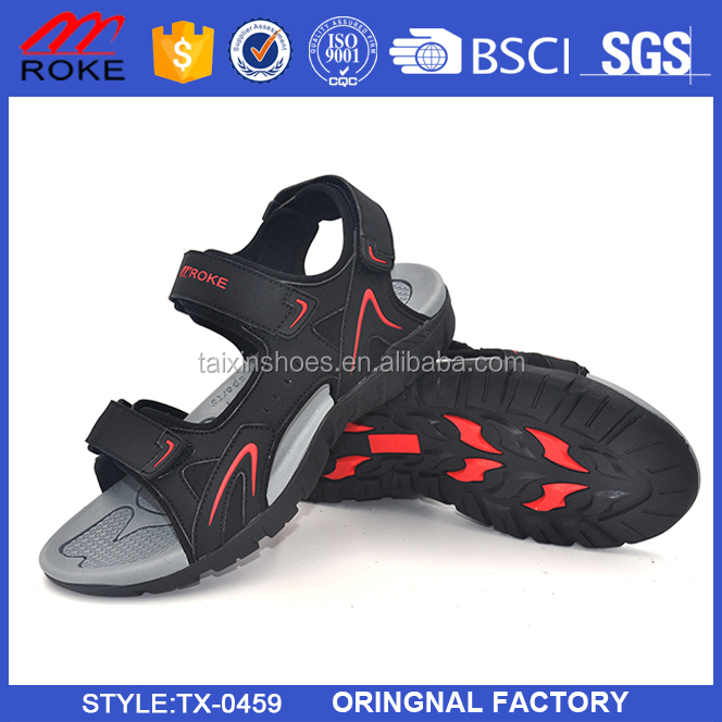 Men Gender and PU Upper Material Breatheable Sole Sport Men Sandal