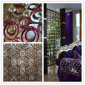 Glamorous 8k Mirror Finish Perforated Stainless Steel Sheet Metal Wall Decor For Bungalow