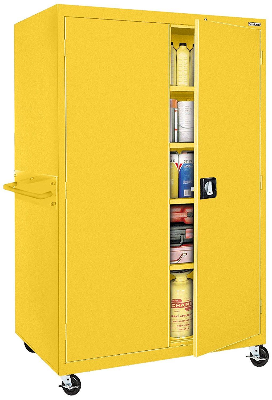 Sandusky Lee TA4R462472-EY Transport Series Mobile Storage Cabinet, Yellow