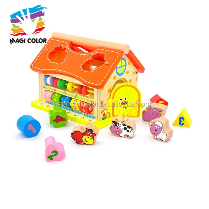 2016 wholesale baby wooden diy house toy, popular kids wooden diy house toy, fashion wooden diy house toy W12D050