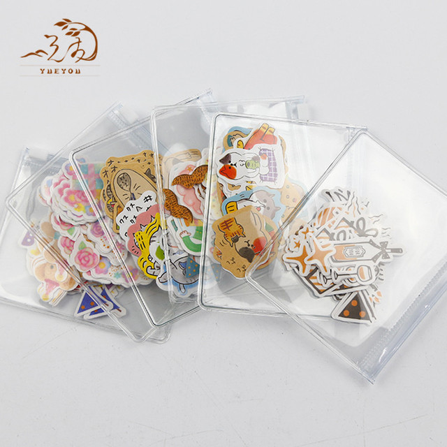 Custom Transparent Stickers Clear Cartoon Adhesive PVC Vinyl Animal Sticker