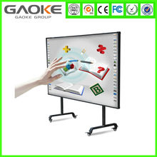 China Hangzhou 82'' 130'' white board school CE ROHS IR smart menu board pen or finger touching USB nacked finger touch solution