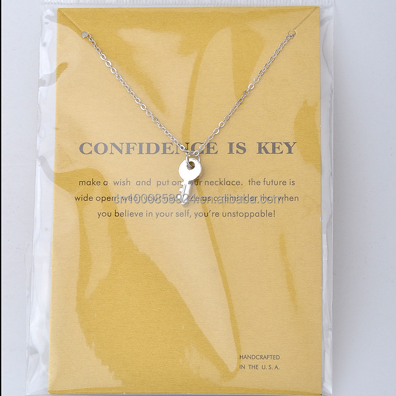Dogeared Card Package confidence is key pendant necklace