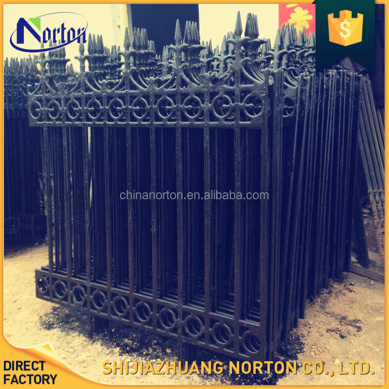 wholesale customized made 2017 newly desgin cast iron fence ornaments NT-CI034D