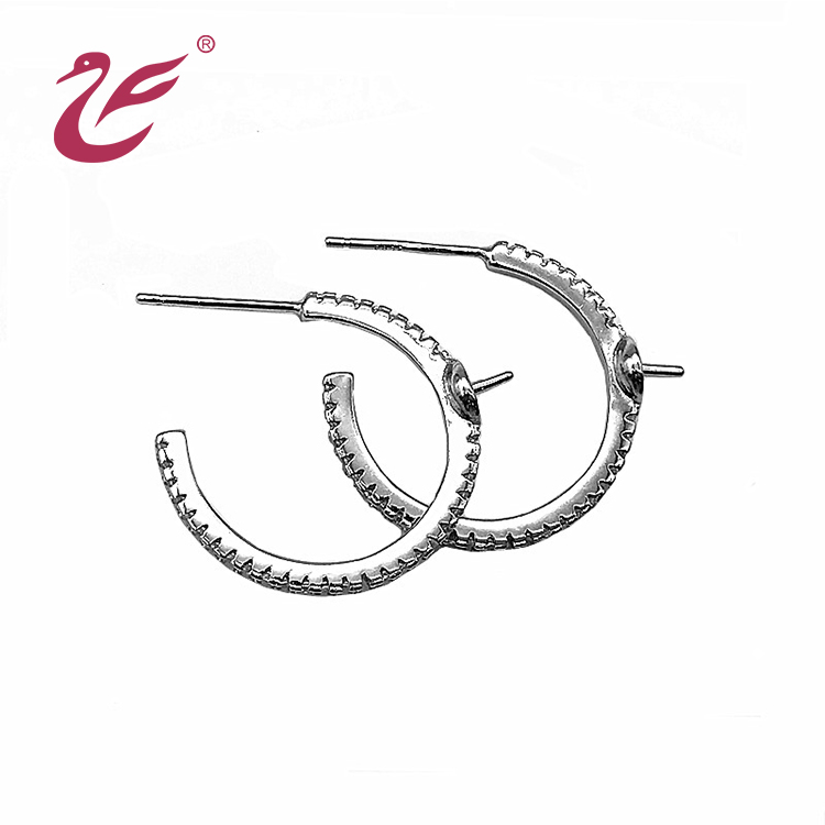 Valentine's day Wholesale fashion 925 silver stud earring pearl earring