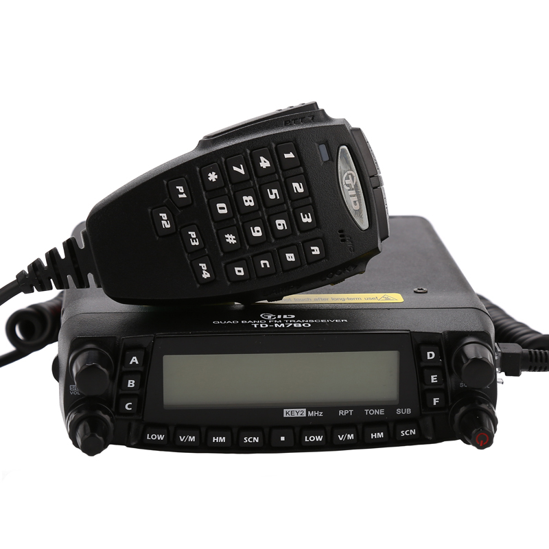 TD-M780 29/50/144/433mhz two way radio mobile uhf vhf hf quad band transceiver