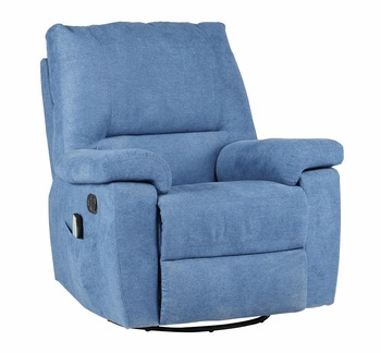 Heated Massage Recliner Sofa Massage Rocker Swivel Fabric Reclining