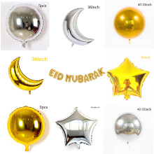 Mindere Bairam party decoratie goud en sliver kleur maan met ster ballon <span class=keywords><strong>EID</strong></span> party