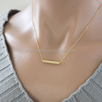 necklaces with u charm from layer minimal simple product wdshop double multi horseshoe wholesale thin gold necklace delicate chain