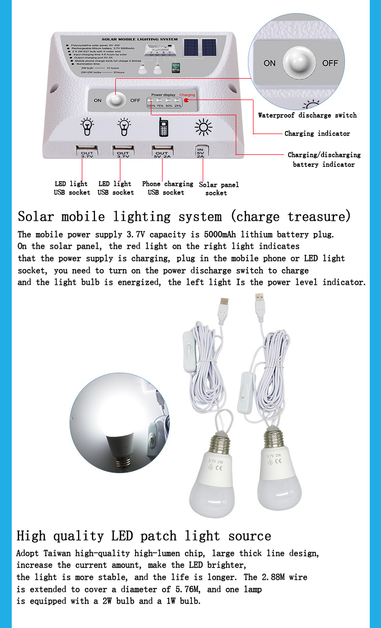 Solar mobile power source photovoltaic power generation system