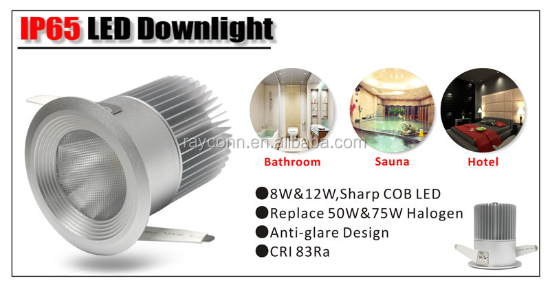 8w Fire Rated Cob Led Downlight Ip65 65~80mm Cut-out Transferable ...
