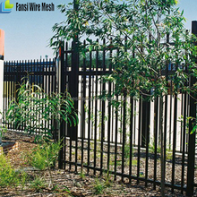 home pvc wrought iron metal security fence panels and gate ornament desgins cost for villa