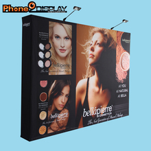 Hohe qualität curved pop-up-stand display mit led-lampen