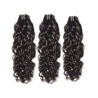100 percent unprocessed water wave human hair curly weave