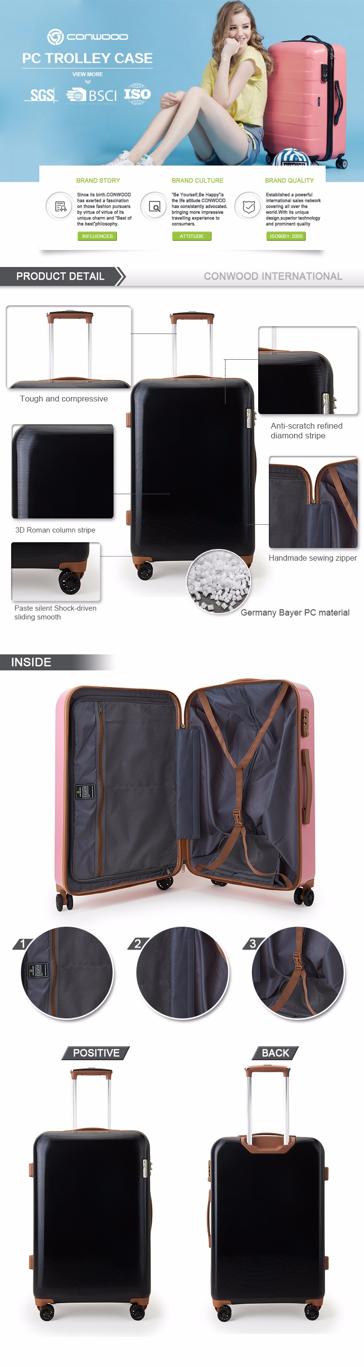 Suitcase With Drawers Attractive Design Pc Luggage Suitcase Bag With Drawers Buy