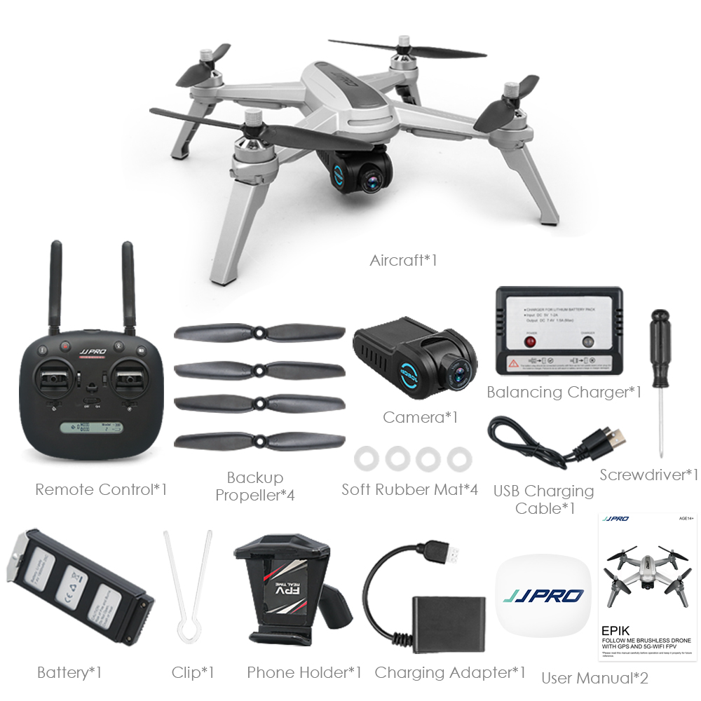 Newest JJRC JJPRO X5 GPS Drone with Camera 4K/1080P 5G WIFI FPV Quadcopter Follow Me Altitude Hold RC Helicopter