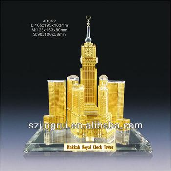 Makkah Royal Clock Tower Crystal Model - Buy Makkah Royal Clock Tower  Model,Crystal Glass Building Model,Crystal Gift Souvenir Product on  Alibaba com