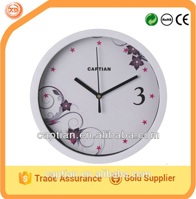 "8"" stylish white plastic wll clock"