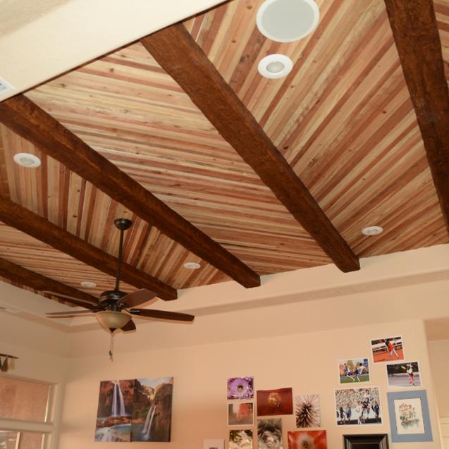 потолочные обои для деревянного дома фото чтобы его