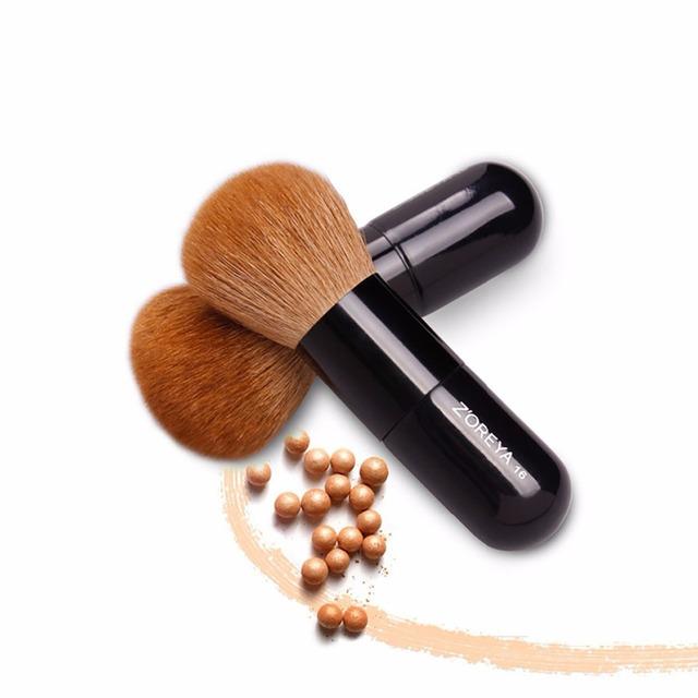 2017 ZOREYA stock beauty women professional Goat hair Powder brush multifunctional cosmetic brush