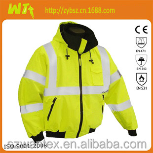nice-looking high visibility traffic police work airline pilot jacket for men