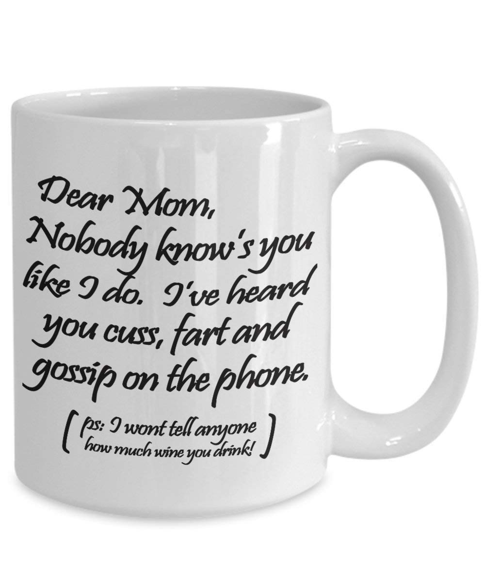 Get Quotations Mothers Day Mug Funny Gift For Mom From Son Or Daughter