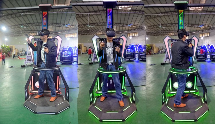 Virtual reality 9D VR walkers gun fighting games for adult entertainment to play