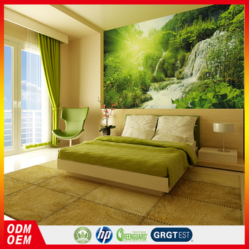 Beautiful Natural Scenery Sunlight Jungle Style Waterfall Wall Painting Mural Living Room Decor Wallpaper