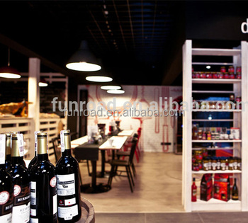 Pubs/wine Bar Interior Design Wine Display Cabinet And Wooden ...