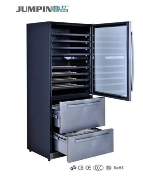 150l Stainless Steel Electronic Control Refrigerator Drawers Home Gl Door Wine Cooler Combi Drawer