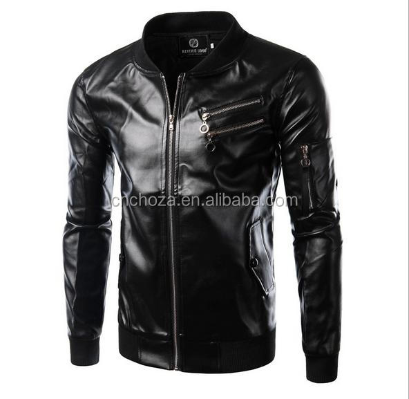 Z54038B Winter Men Jackets With Fashion Men Jackets Leather Low Price Jackets