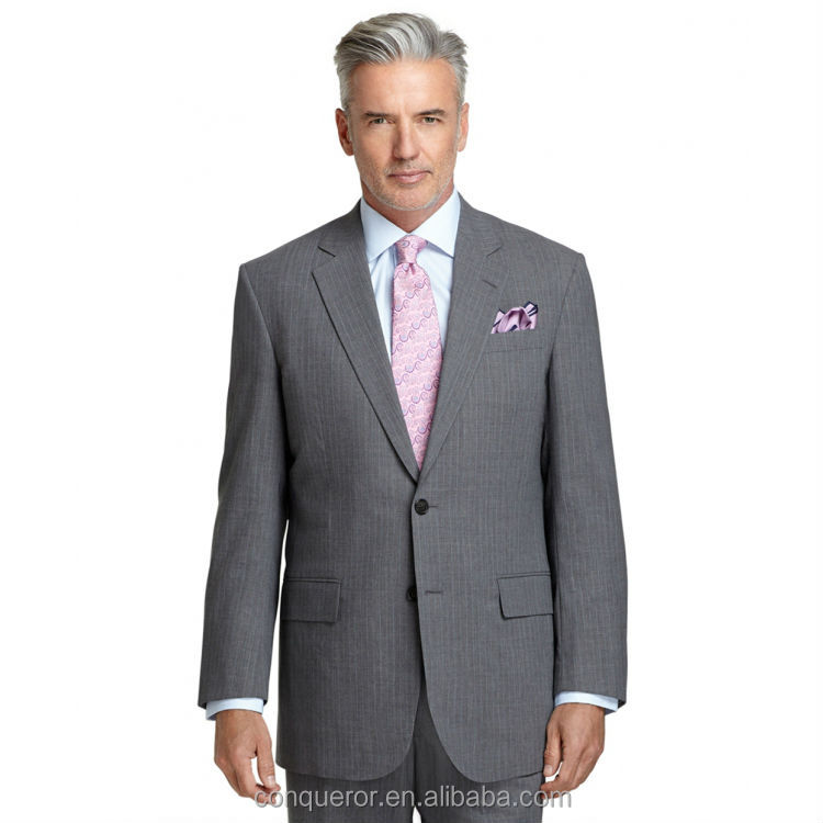 Light Grey Suit. Full Canvas Construction. Center Vent. Pleat ...