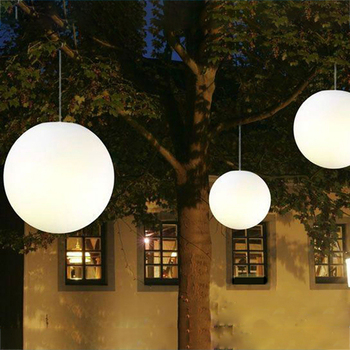 Color Changing Outdoor Led Hanging Light Christmas And Holiday Decorative Illuminated Ball Lighted