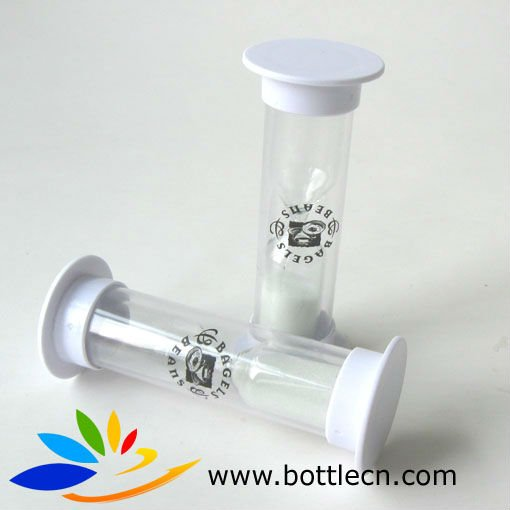 2min 30 seconds sand timer hourglass with customized label logo for luncfroom cafe cmpany print logo on