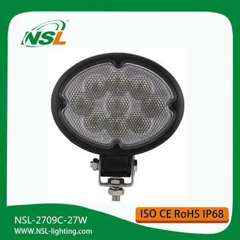 LED Work Light 27W Round Flood Beam/LED Work Lamp 10-30V Factory offroad waterproof led worklight 27w work light 12v,