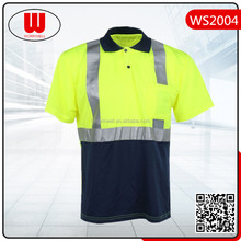 hi vis reflective safety polo shirt