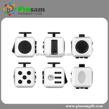 Finger Cube White and Black Fidget Cube Toy Relieves Stress and Anxiety for Children and Adults Magic infinity cube