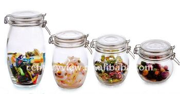 clear clip lid airtight christmas candy jars