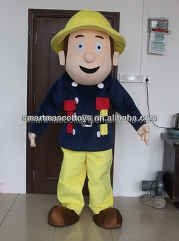 hot sale hig quality fireman mascot costume/ fireman costume for adult party