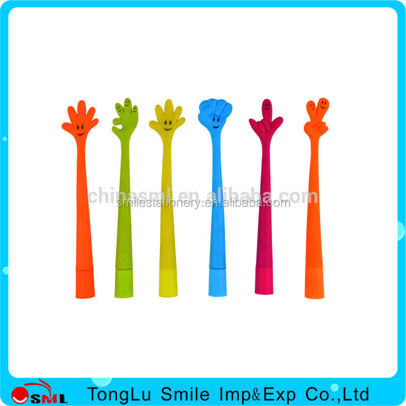 hot sales soft PU plastic finger toy pen with logo for kids