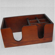 Packaging box wooden factory barware cheap 6 compartments wooden bar caddy