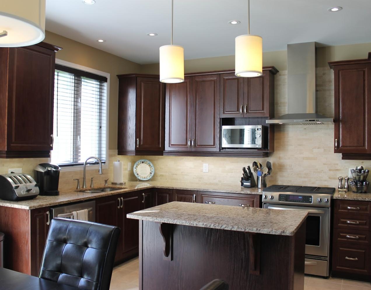 Chocolate Color Raised Solid Wood Door Design Kitchen Cabinets - Buy Solid  Wood Kitchen Cabinets,Raised Door Kitchen Cabinet,Design Kitchen Cabinets  ...