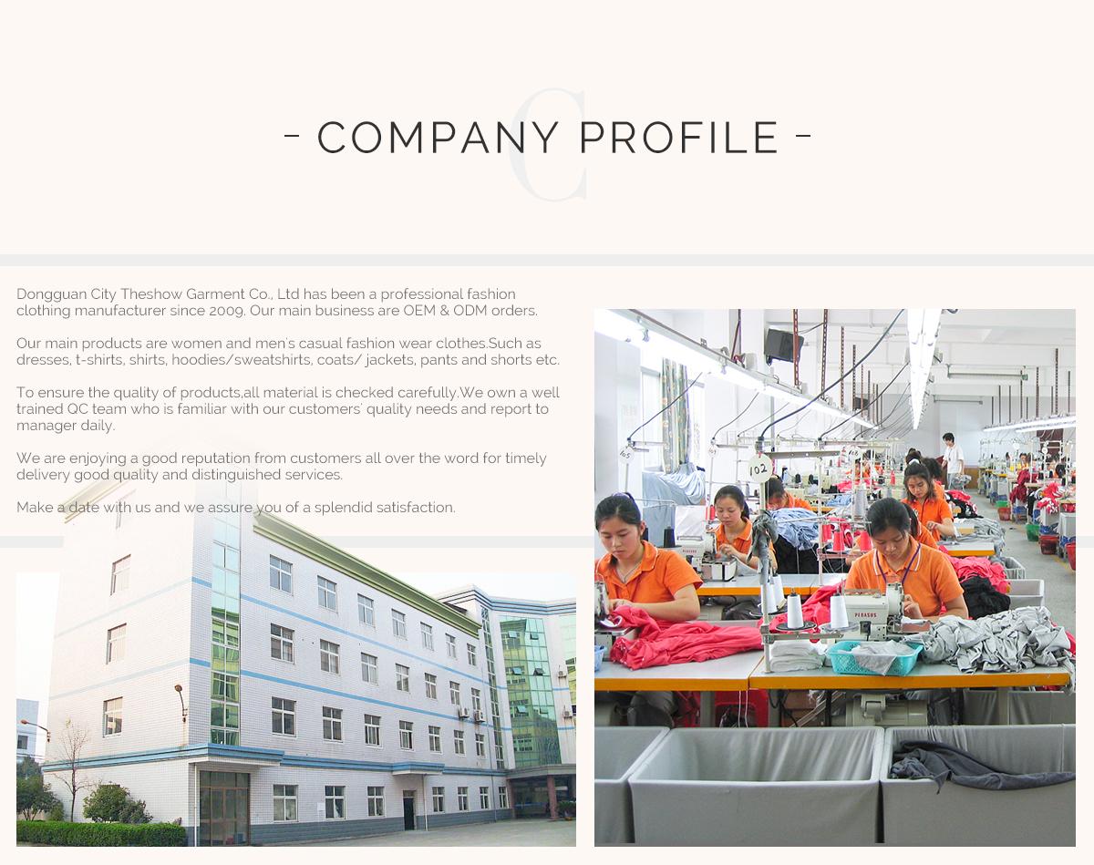 Dongguan City Theshow Garment Co , Ltd  - Dress, T Shirt
