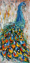 Oil painting peacock bulk wholesale art supplies