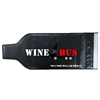 PVC wine bottle protector bags with double seal lock