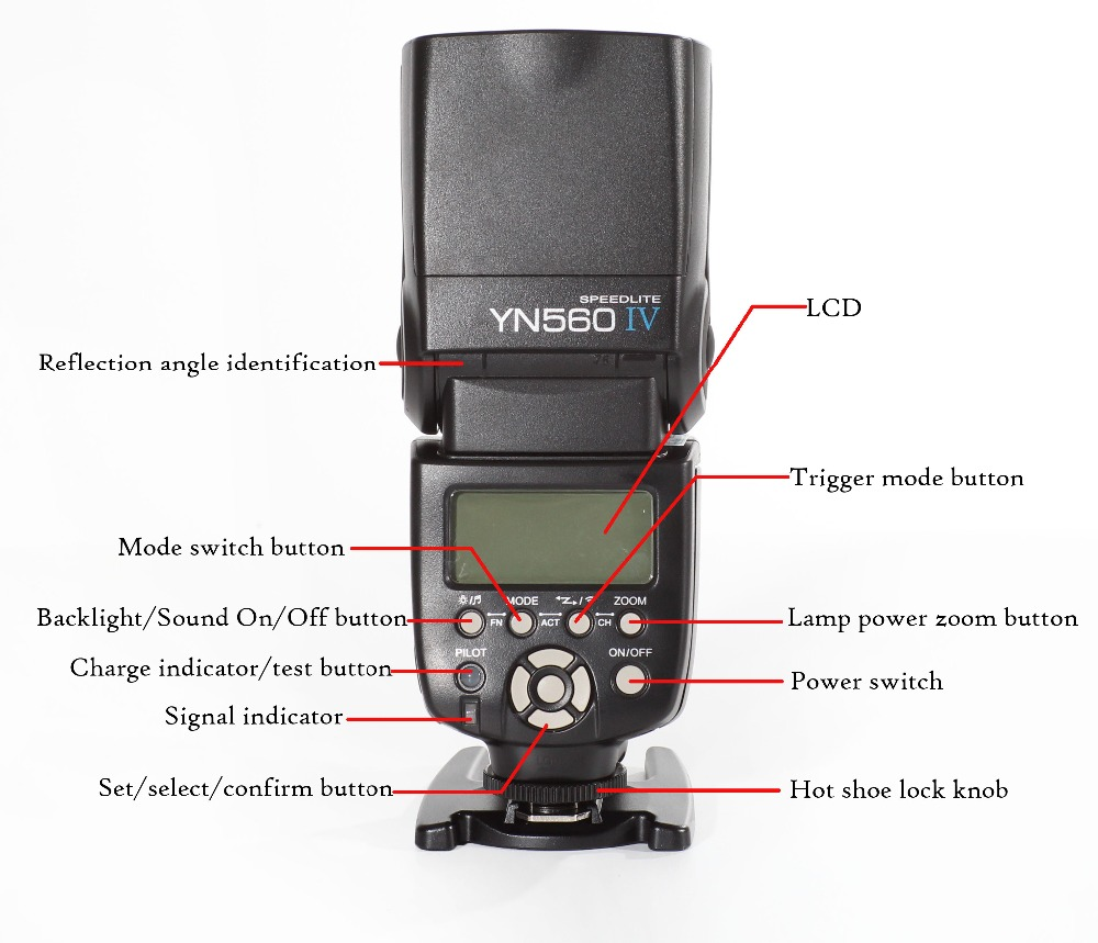 YONGNUO YN560 IV 2.4G Wireless Flash Speedlite for Canon 6D 7D 60D 70D 5D2 5D3 700D 650D,YN-560 IV for Nikon D750 D800 D610 D90