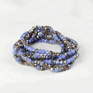 Cheap wholesale strand crystal faceted glass rondelle beads