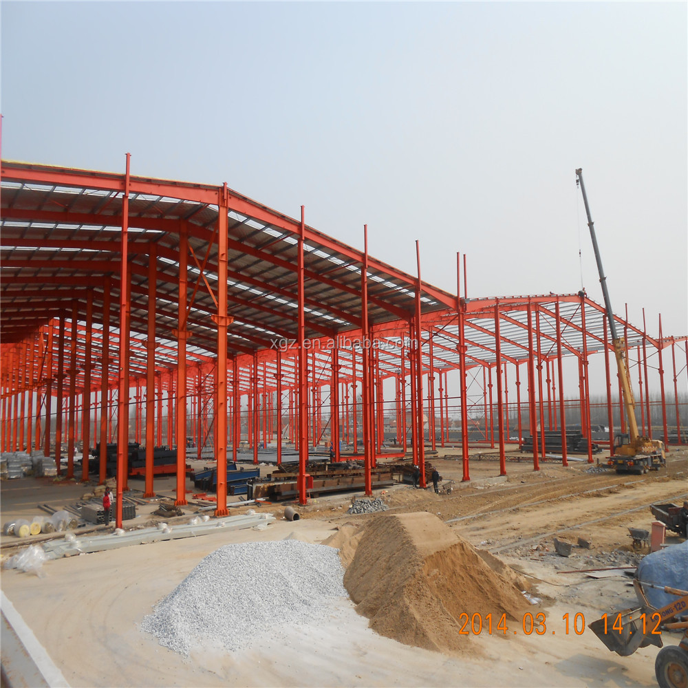 industrial steel structure building shed fast assembled steel construction