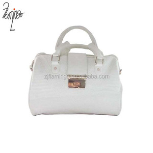 Flamingo wholesale top hand PU leather handbag, leather tote bag