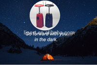 Crank handle LED dynamo camping flashlight solar lantern